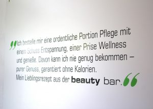 beauty bar Zitat